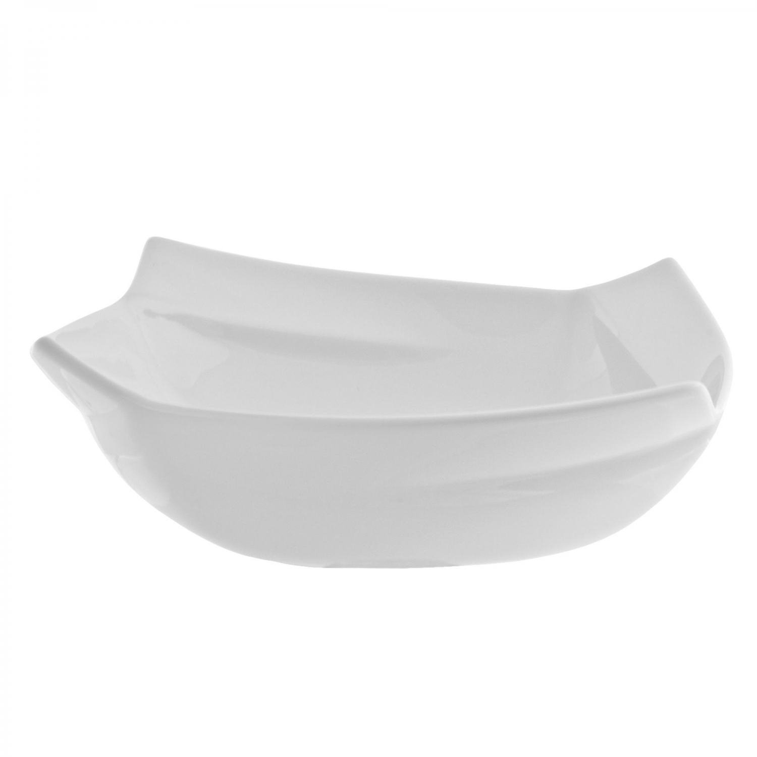 10 Strawberry Street NOU-6SQ 16 oz. Nouve Square White Vegetable Bowl