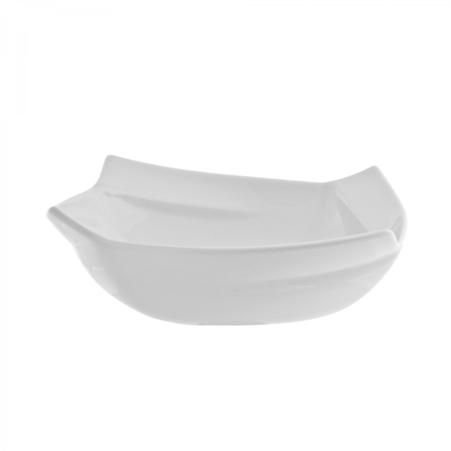 10 Strawberry Street NOU-7SQ 8 oz. Nouve Square White Cereal Bowl