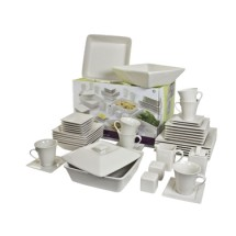 10 Strawberry Street NOVA-45SQ Nova 45-Piece Dinnerware Combo Set - 1 case