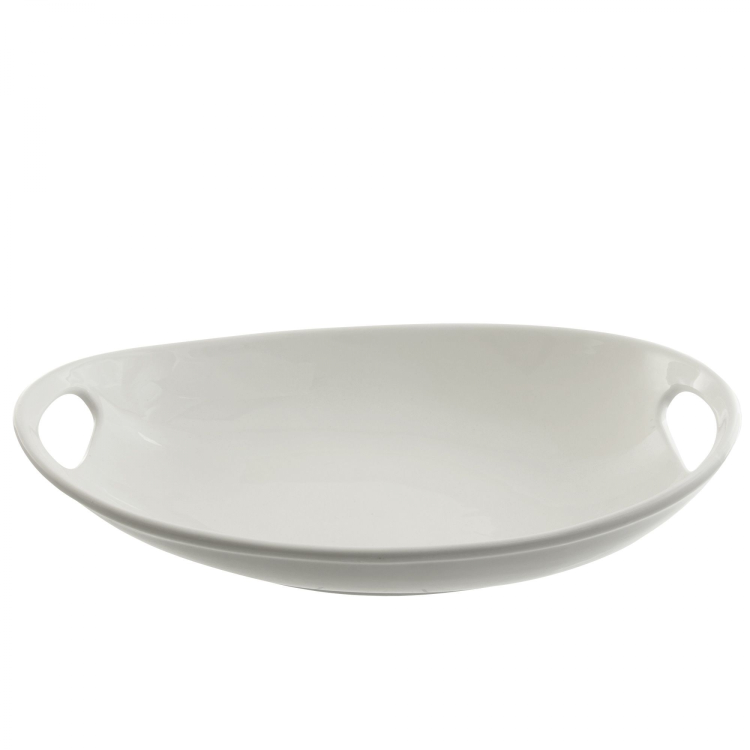 "10 Strawberry Street OSLO-18SHLWHNDBWL Oslo Oval Handle Platter 18-1/4"" x 12-3/4"""