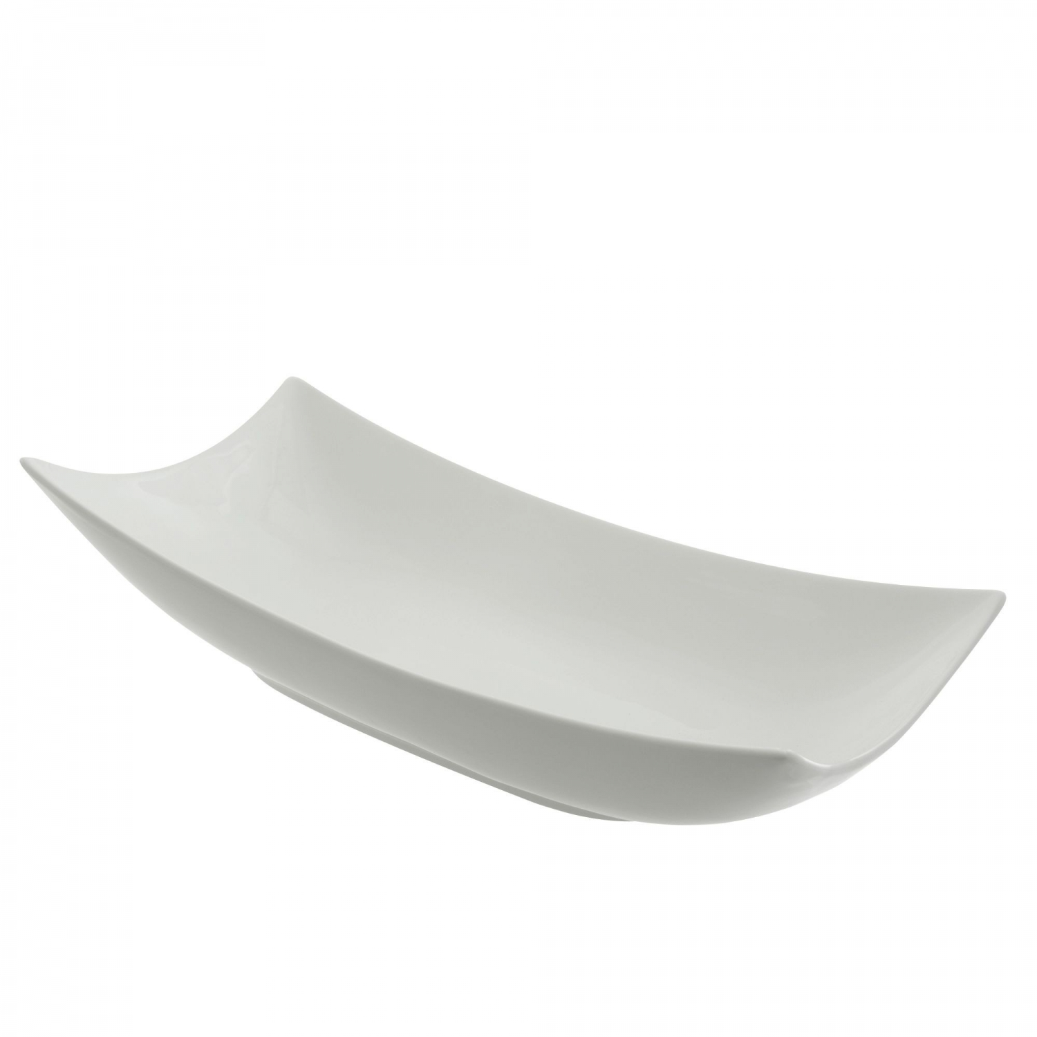 "10 Strawberry Street OSLO-21CPPLTR Oslo Coupe Rolled Edge Platter 21"" x 10-3/8"""