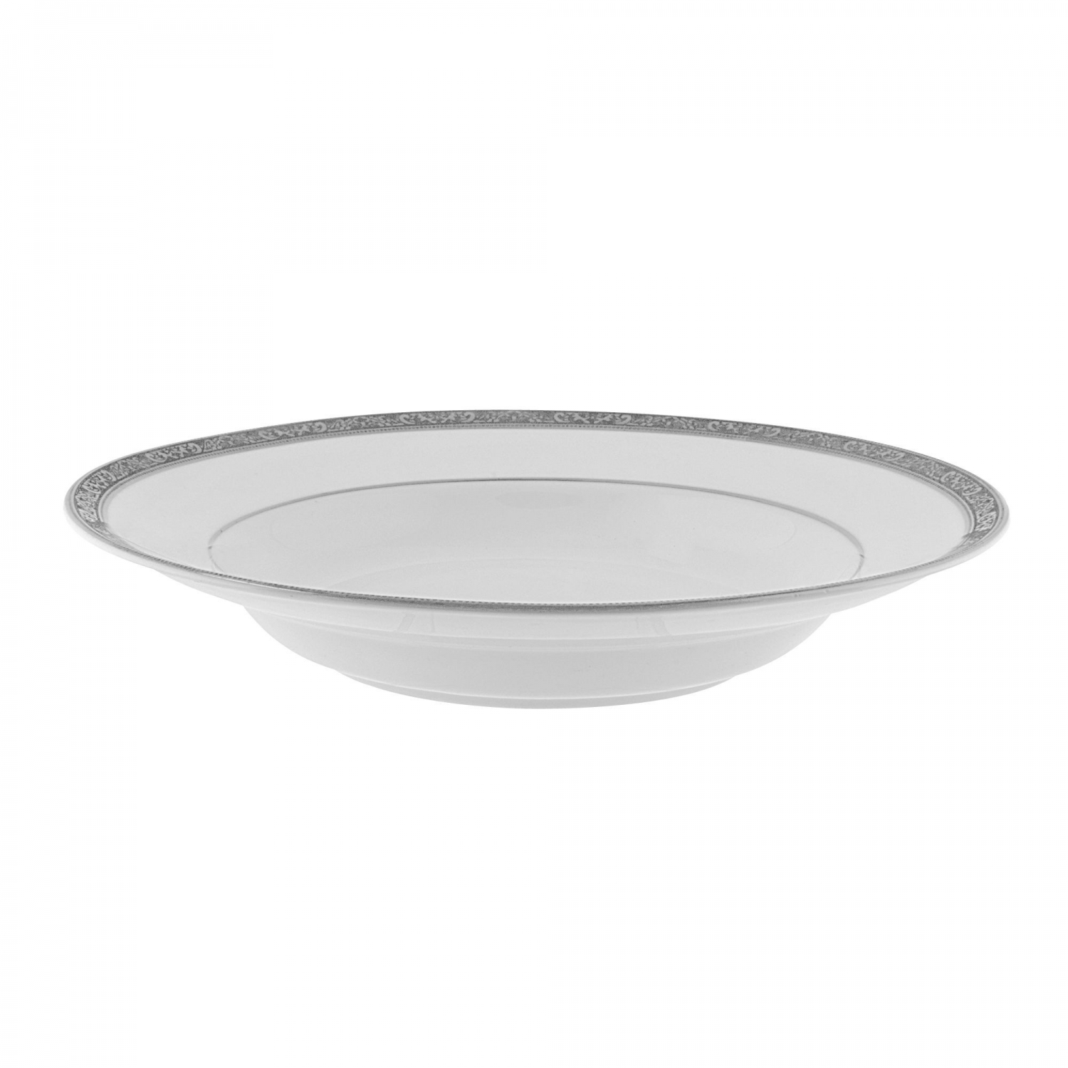 10 Strawberry Street PAR-3P Paradise Platinum Rim Soup Bowl 8 oz.