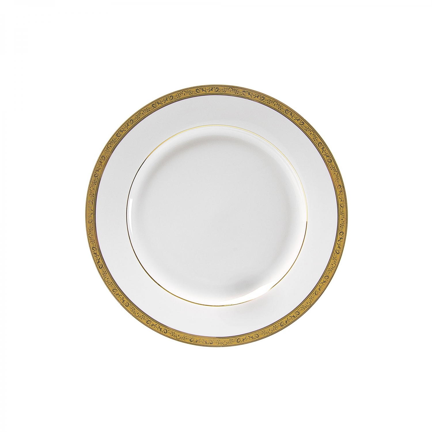 10 Strawberry Street PAR-4G Paradise Gold Salad/Dessert Plate 8""