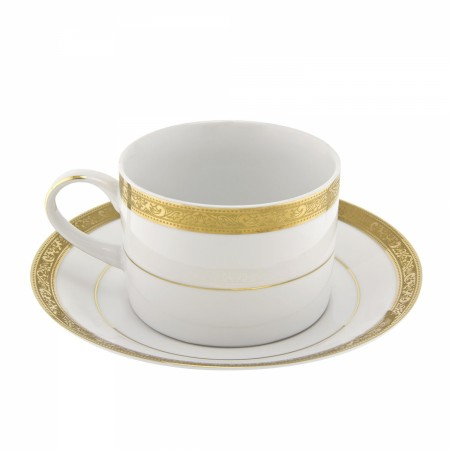 10 Strawberry Street PAR-9G Paradise Gold Can Cup and Saucer Set 8 oz.
