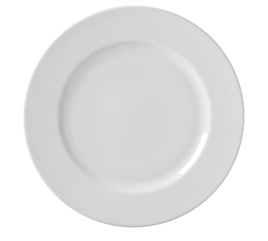 "10 Strawberry Street RB0001 10-3/4"" Classic White Dinner Plate"