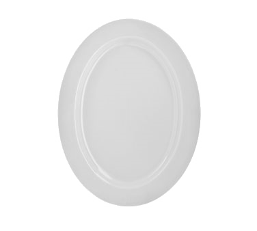 "10 Strawberry Street RB0022 14"" Classic White Oval Platter"