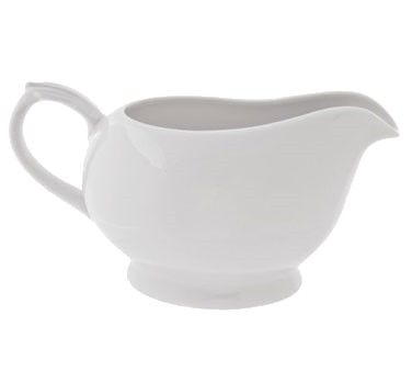 10 Strawberry Street RB0025 16 oz. Classic White One Piece Gravy Boat