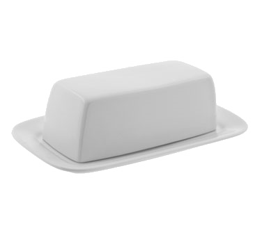 10 Strawberry Street RB0034 Classic White Butter Dish with Cover