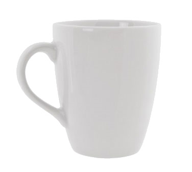 10 Strawberry Street RB0100 12 oz. Classic White Barrel Mug