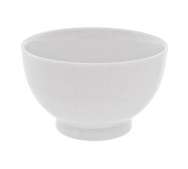 10 Strawberry Street RB0255 18 oz. Classic White Footed Rice Bowl