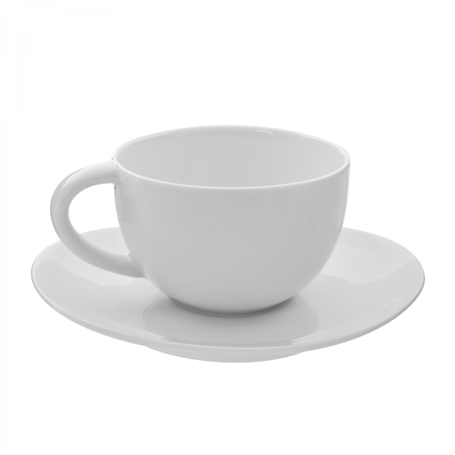 10 Strawberry Street RVL0009 Royal Oval White Cup and Saucer Set 10 oz.