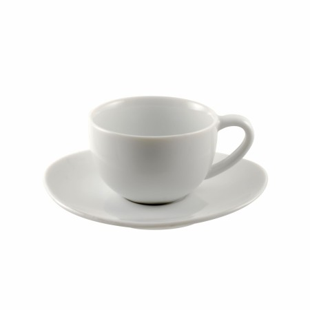 10 Strawberry Street RVL0428 Royal Oval White Demitasse Cup and Saucer Set 4 oz.