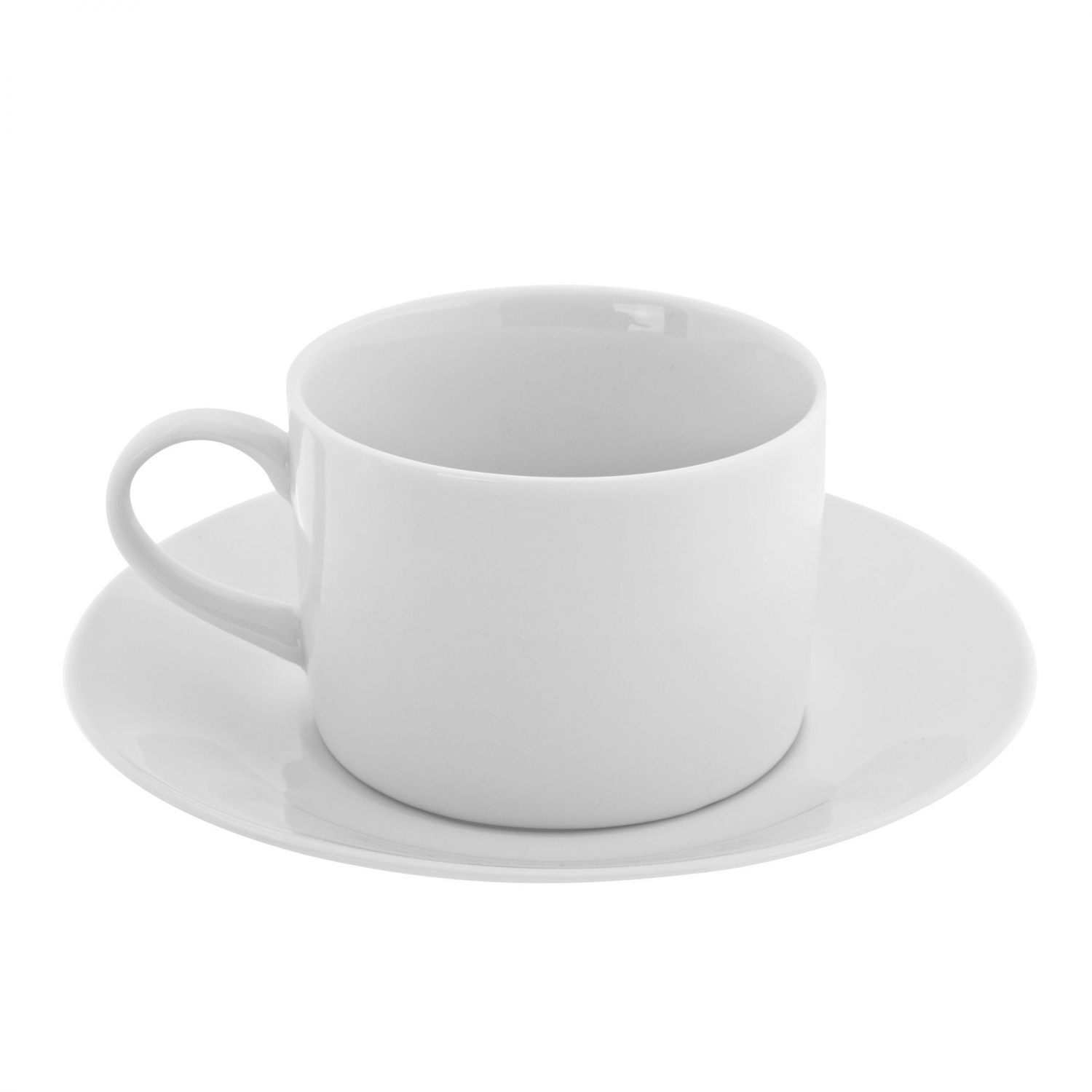 10 Strawberry Street RW0009 Royal White Can Cup and Saucer Set 8 oz.