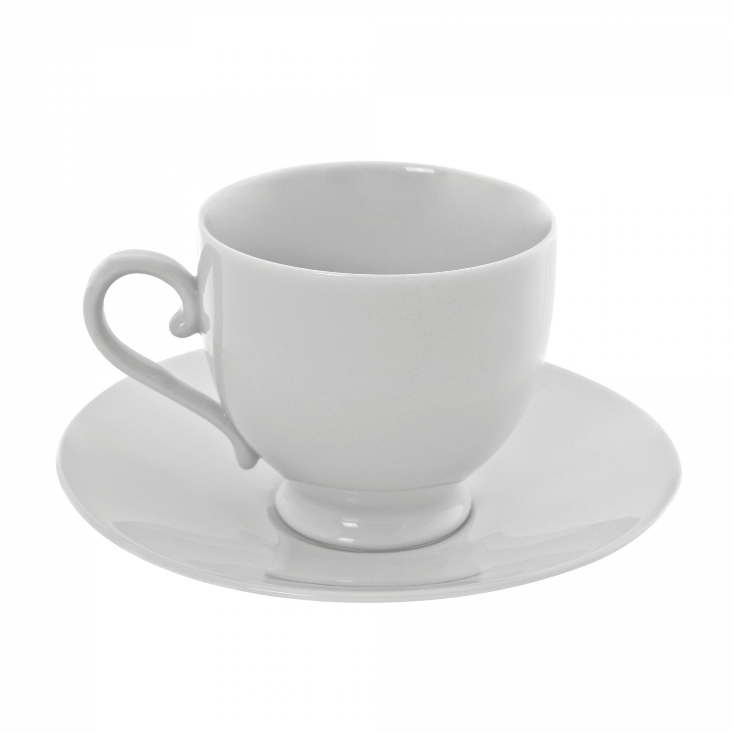 10 Strawberry Street RW0010 Royal White Cup and Saucer Set 8 oz.
