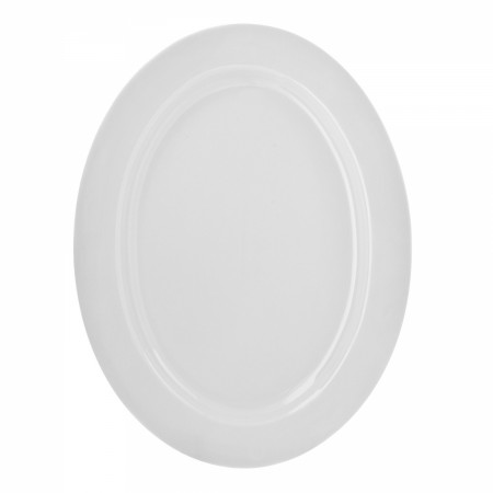 10 Strawberry Street RW0022 Royal White Oval Platter 14-3/8""