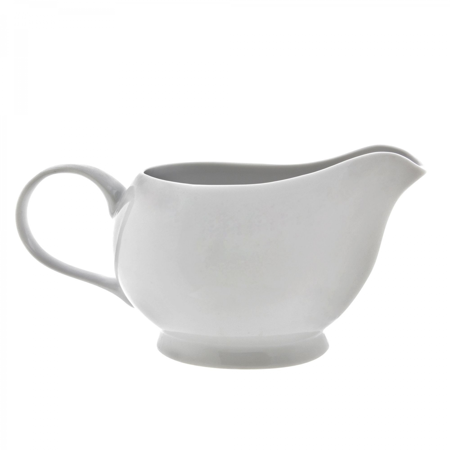 10 Strawberry Street RW0025 Royal White Gravy Boat 6""