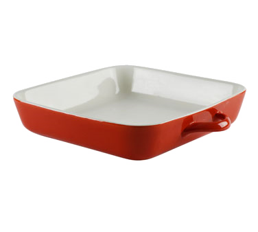 10 Strawberry Street SIENA-11SQBKR 2.25 Qt. Red Square Baking Dish - 4 pcs