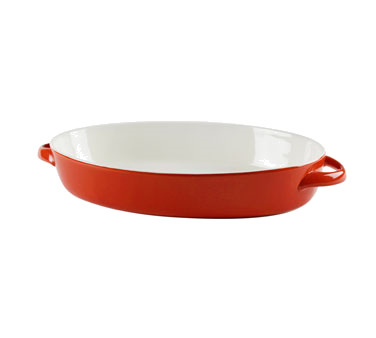 10 Strawberry Street SIENA-13OVLBKR 2 Qt. Red Oval Baking Dish - 4 pcs