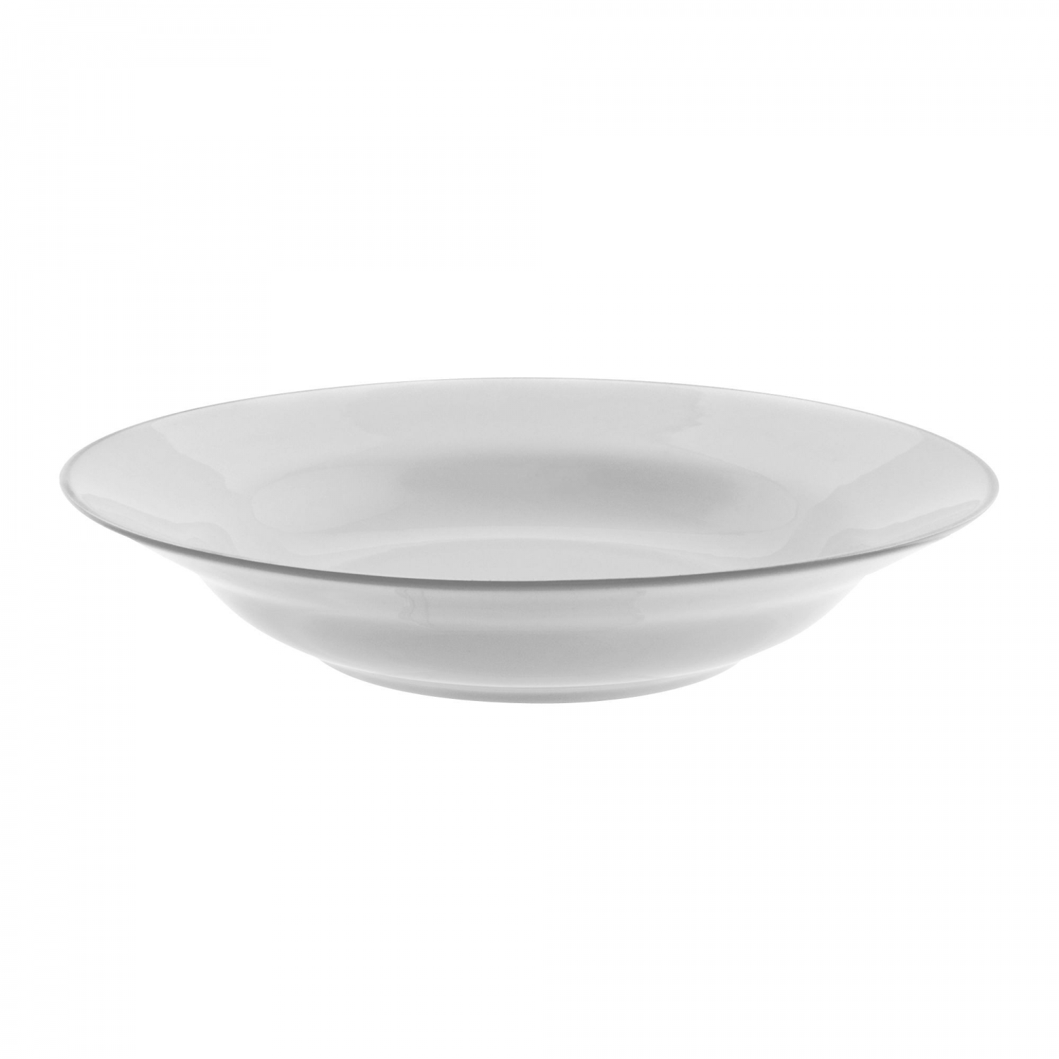 10 Strawberry Street SL0003 Silver Line Rim Soup Bowl 10 oz.