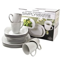 10 Strawberry Street SM-1600(SQ) 16-Piece Dinnerware Condo Set - 2 sets / case