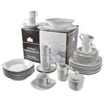 10 Strawberry Street SM-4500SQTSS 45-Piece Dinnerware Condo Set - 1 case