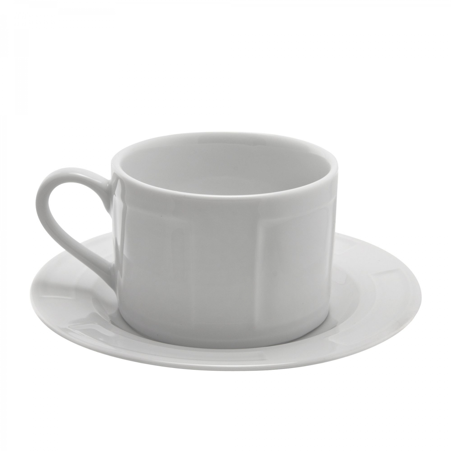 10 Strawberry Street SORR0009 Sorrento White Cup and Saucer 9 oz.