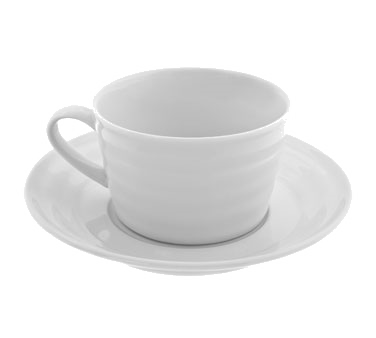 10 Strawberry Street SWNG-9 Swing White Cup and Saucer Set 9 oz.