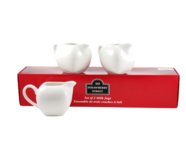 10 Strawberry Street TBX-MILKJUG3 6 oz. Creamer Jug, Set of 3 - 16 pcs