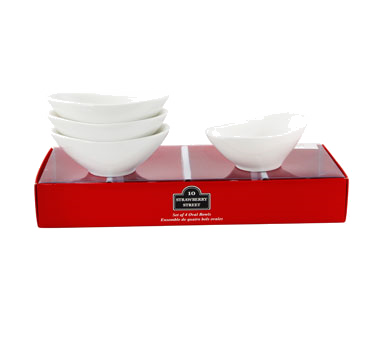 10 Strawberry Street TBX-OVLBWL4 2 oz. Tid Bit Bowls, Set of 4  - 24 pcs