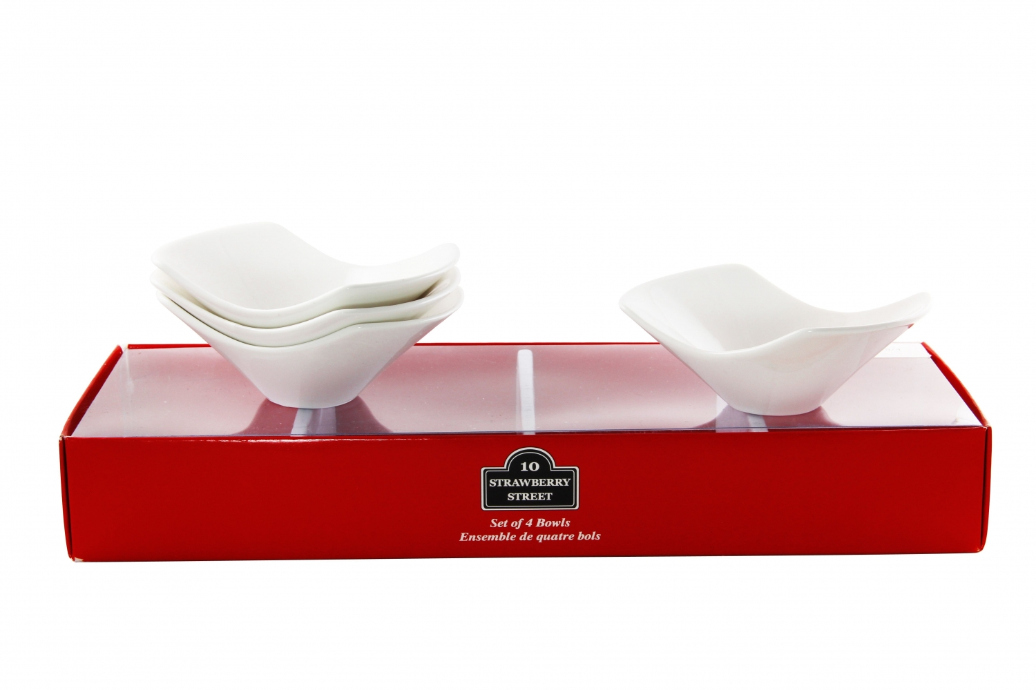 10 Strawberry Street TBX-SAMBWL4 2 oz. Square Cereal Bowl, Set of 4