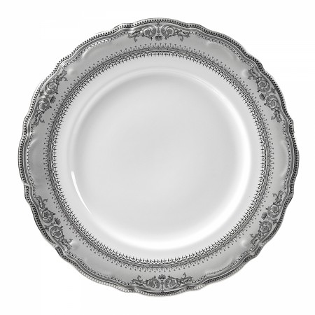 10 Strawberry Street VAN-24P Vanessa Platinum Charger Plate 12""