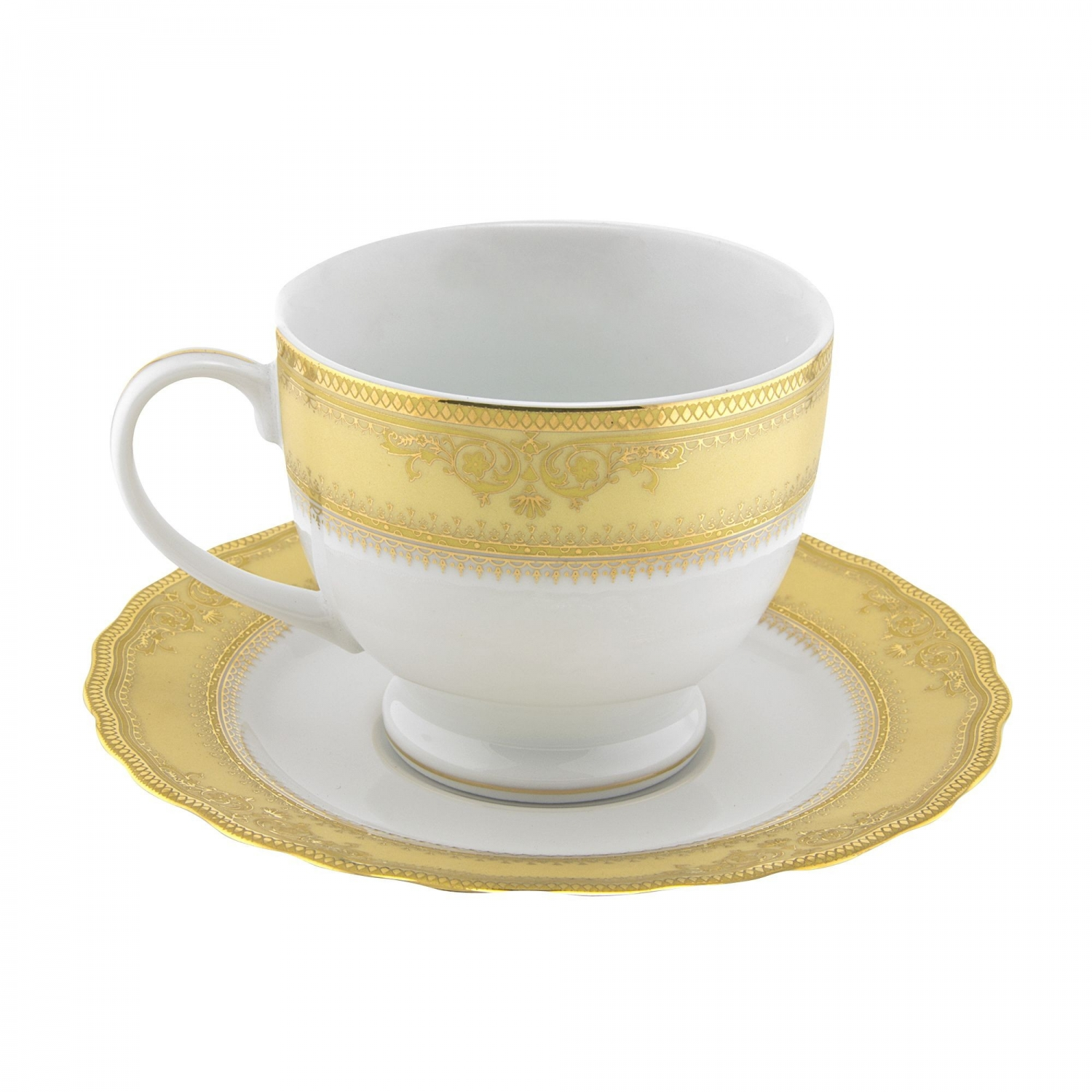 10 Strawberry Street VAN-9G Vanessa Gold Cup and Saucer 8 oz.