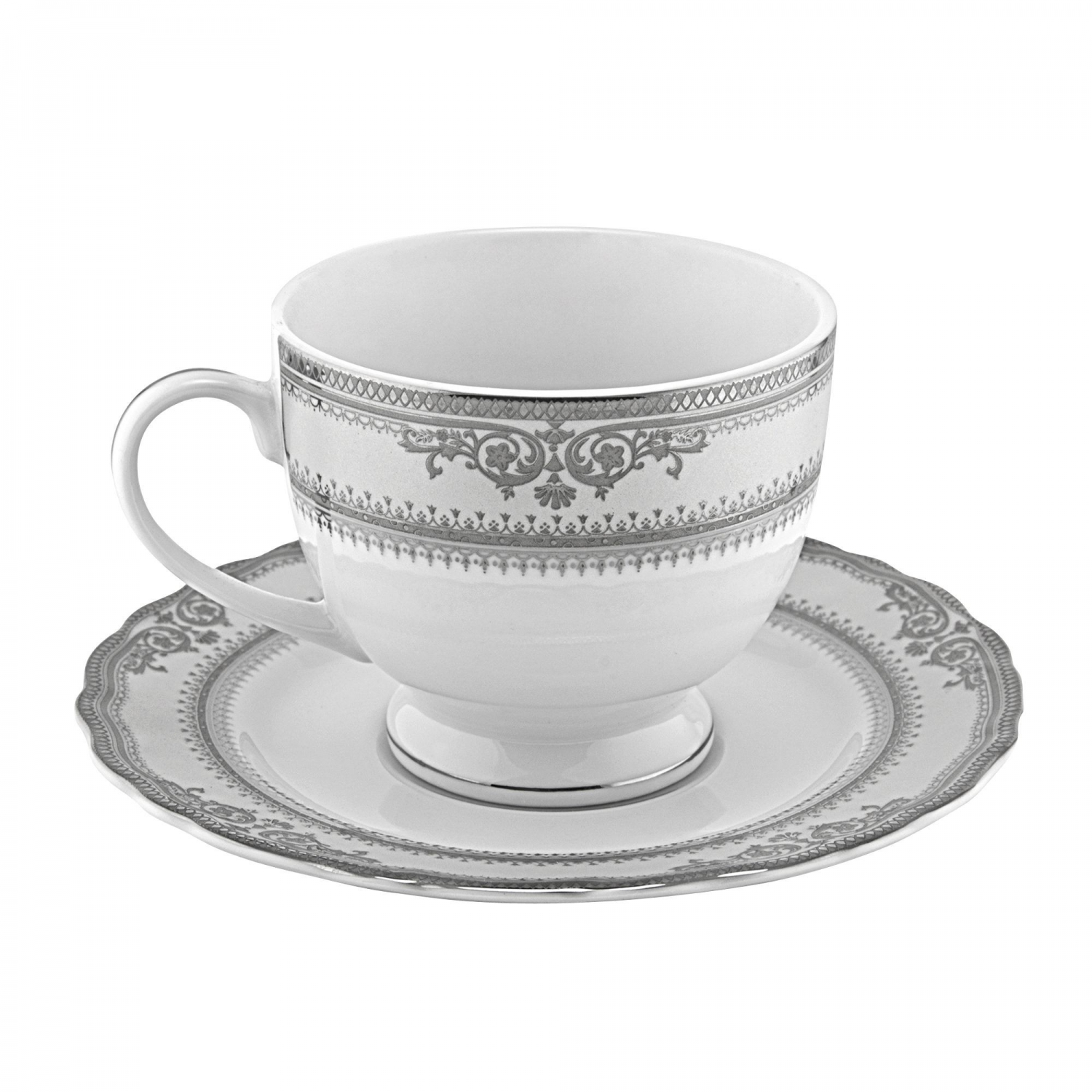 10 Strawberry Street VAN-9P Vanessa Platinum Cup and Saucer 8 oz.
