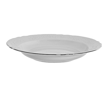 10 Strawberry Street VINE-3SL Vine Silver Line Rim Soup Bowl 12 oz.