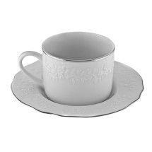 10 Strawberry Street VINE-9SL Vine Silver Line Cup and Saucer 7 oz.