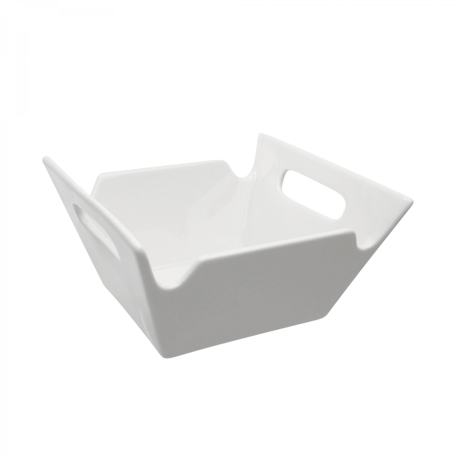 10 Strawberry Street WTR-10SQHNDLBWL Whittier Square Bowl with Handles 88 oz.