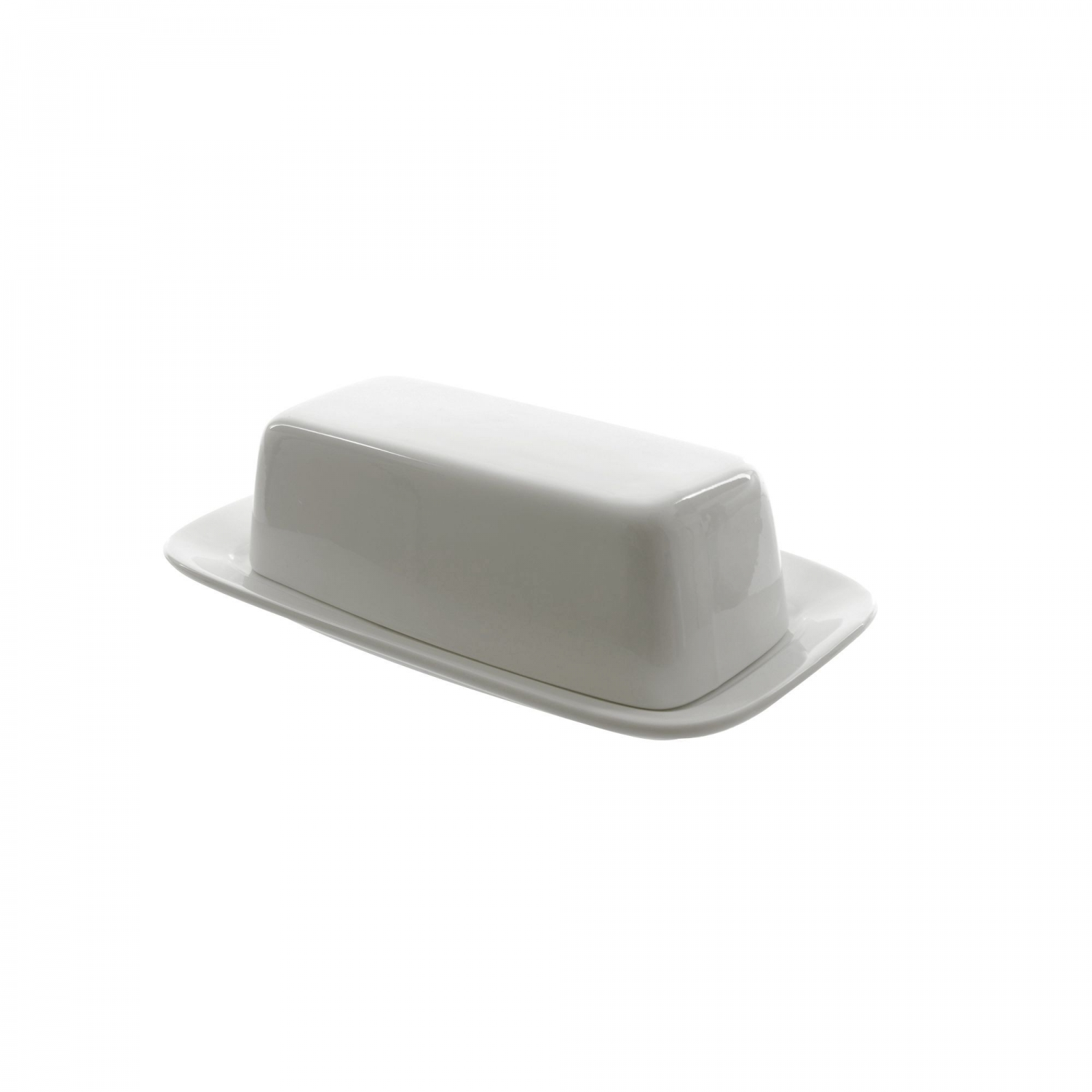 "10 Strawberry Street WTR-34 Whittier Butter Dish with Cover 7-3/4"" x 4-1/8"""