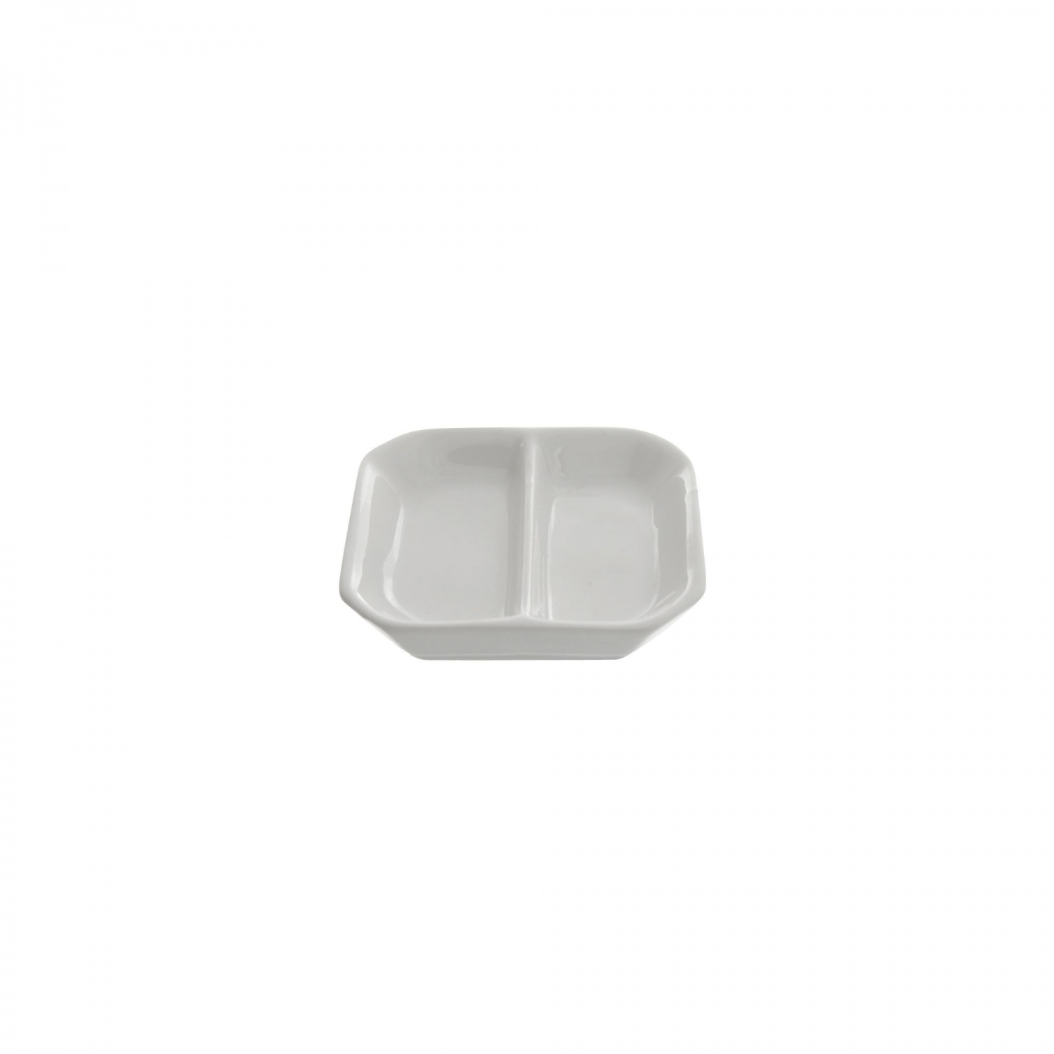 10 Strawberry Street WTR-3DIV Whittier Divided Sauce Dish 3""