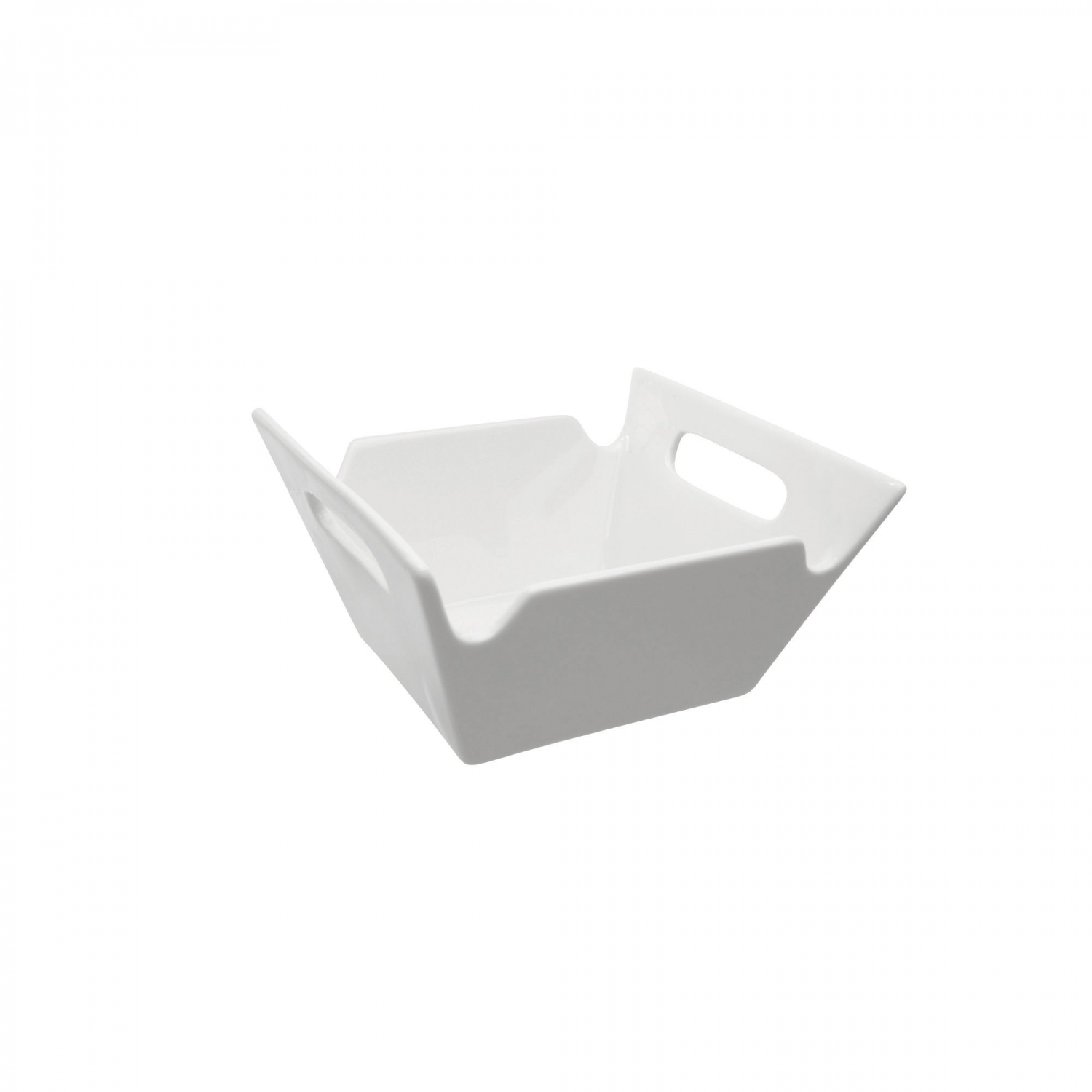 10 Strawberry Street WTR-4SQHNDLBWL Whittier Square Bowl with Handles 3 oz.