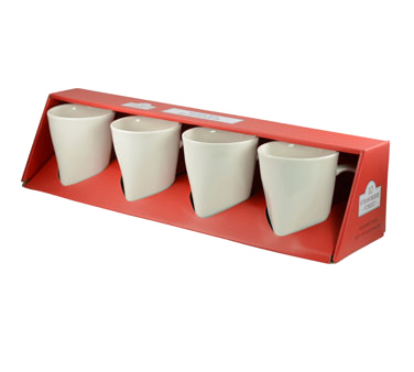 10 Strawberry Street WTR-SQMUGBOX4RED 8 oz. Square Coffee Mug - 12 pcs