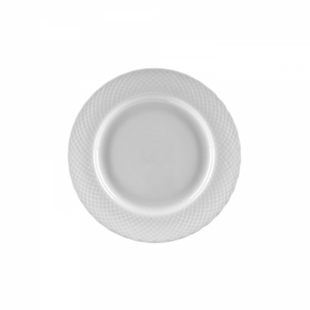 """10 Strawberry Street WW0005 White Wicker Bread and Butter Plate 6"""""""