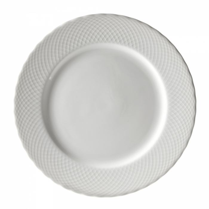 10 Strawberry Street WW0024 White Wicker Charger Plate 12""