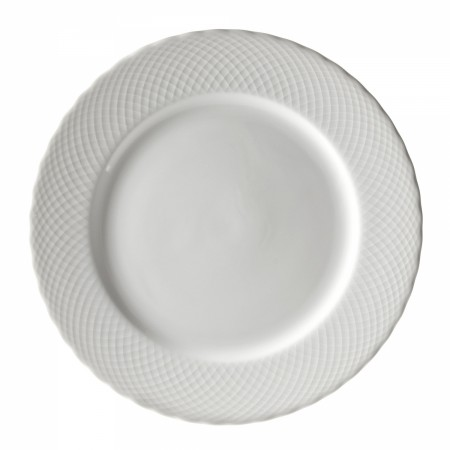 """10 Strawberry Street WW0024 White Wicker Charger Plate 12"""""""