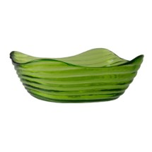 10 Strawberry Street ZS-6SQBWL(LG) 12 oz. Zeus Lime Green Square Glass Bowl - 36 pcs