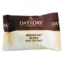 Day To Day 100% Pure Coffee, Breakfast Blend, 1.5 oz. Pack, 42 Packs/Carton
