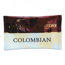 Day To Day 100% Pure Coffee, Colombian Blend, 1.5 oz. Pack, 42 Packs/Carton