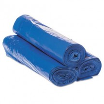 Draw-Tuff Institutional Draw-Tape Can Liners, 30 Gallon, Blue, 200/Carto