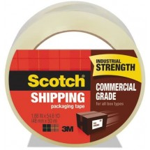 """Scotch Commercial Grade Packaging Tape, 1.88"""" x 54.6 Yds."""