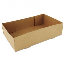 SCT 4-Corner Pop-Up Food and Drink Tray, Brown, 500/Carton