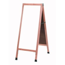 "Aarco Products A-311SW A-Frame Sidewalk White Porcelain Markerboard with Solid Red Oak Frame, 42""H x 18""W"